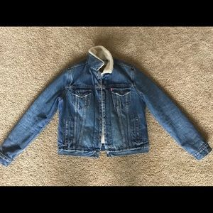 Levi's Denim Sherpa Trucker Jacket